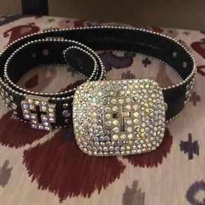 Lightly used bling belt from Buckle